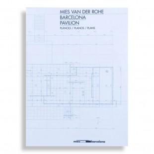 Mies van der Rohe Pavilion Plans. A3 Folded