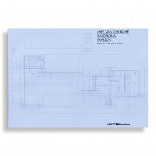 Mies van der Rohe Pavilion Plans. A3