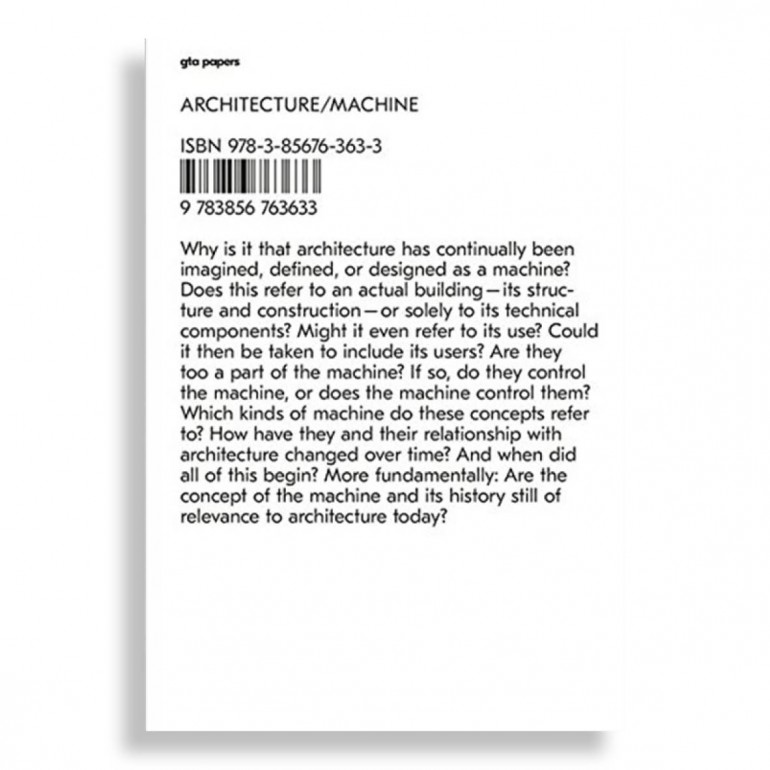 GTA Papers 1. Architecture/Machine